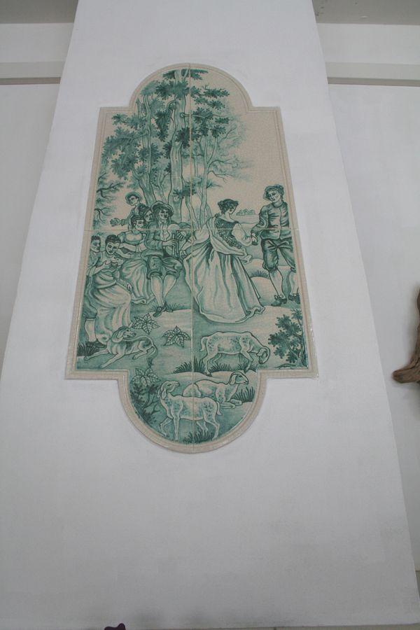 Kachel mit delftermalerei