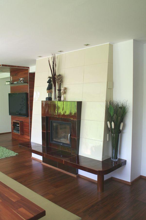 Ofen modern im Wohnzimmer
