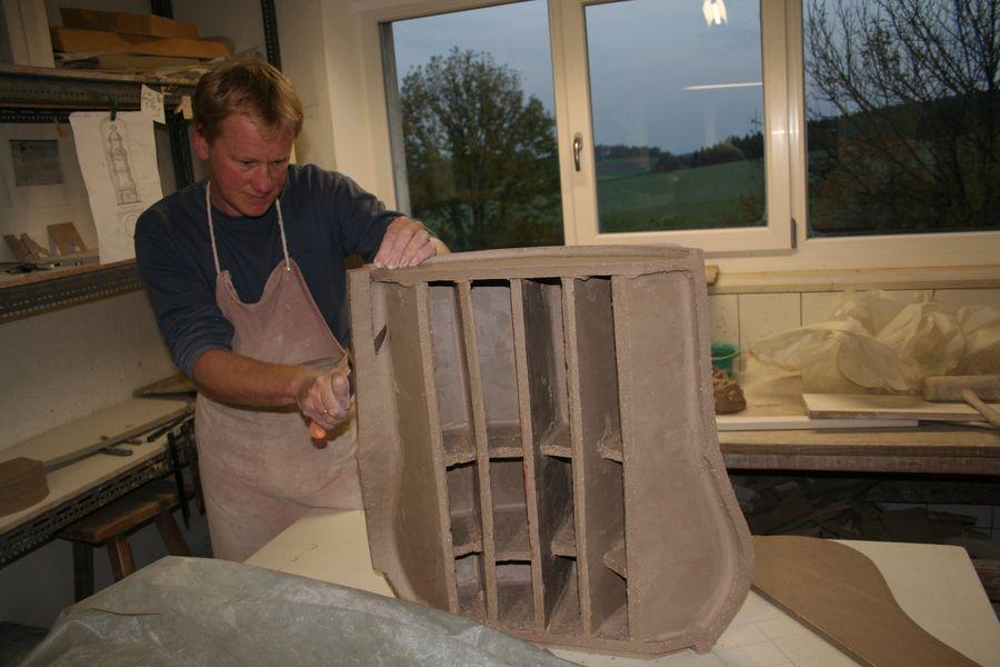 Der Ofen wurde in reiner Überschlagstechnik erzeugt